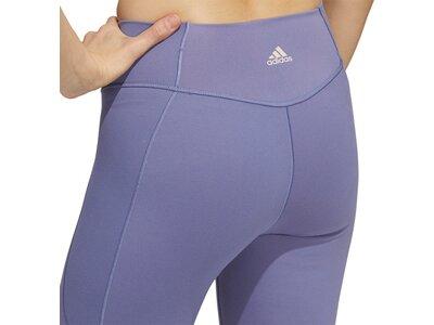 adidas Damen Yoga Power Mesh 7/8-Tight Lila