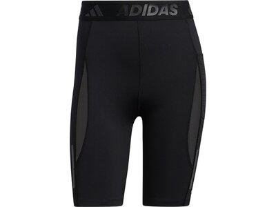 adidas Damen Techfit HEAT.RDY kurze Tight Schwarz