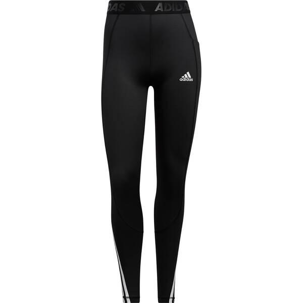 adidas Damen Techfit Gym 3-Streifen lange Tight