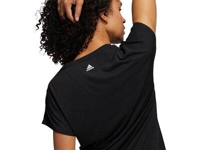 adidas Damen 3-Streifen Training T-Shirt Schwarz