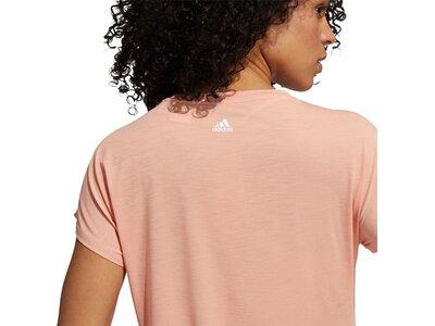 adidas Damen 3-Streifen Training T-Shirt Pink