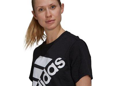 adidas Damen Brand Love Slanted Logo Boyfriend T-Shirt Schwarz