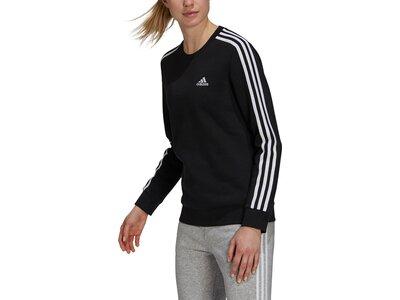 adidas Damen Essentials 3-Streifen Fleece Sweatshirt Schwarz