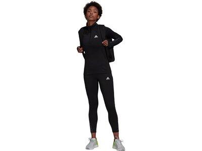 adidas Damen AEROREADY Designed 2 Move Cotton Touch 1/2-Zip Longsleeve Schwarz
