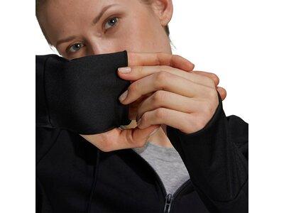 adidas Damen Designed 2 Move Cotton Touch Kapuzenjacke Schwarz