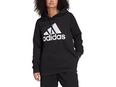 adidas Damen Essentials Logo Fleece Hoodie – Große Größen Schwarz