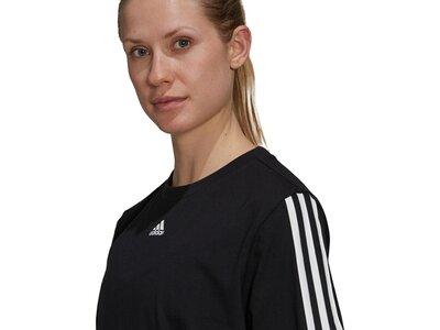 adidas Damen Essentials Loose 3-Streifen Kleid Schwarz
