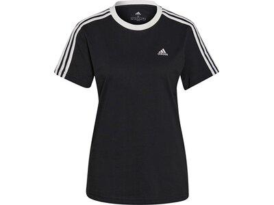 adidas Damen Essentials 3-Streifen T-Shirt Schwarz