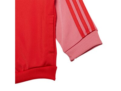 adidas Kinder 3-Streifen Tricot Trainingsanzug Rot