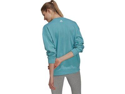 adidas Damen U4U Soft Knit Sweatshirt Blau