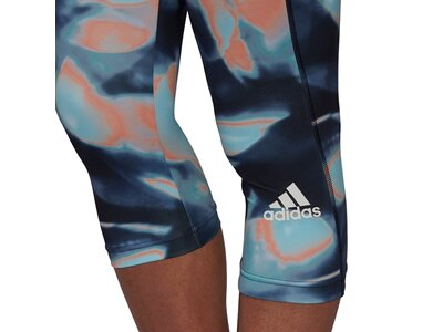 adidas Damen FeelBrilliant AEROREADY You for You Printed Sport 3/4-Tight Blau
