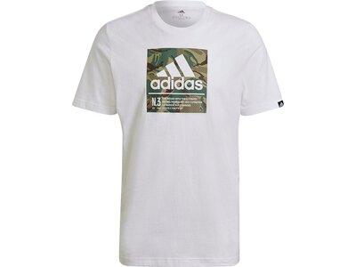 adidas Herren Camo Box Graphic T-Shirt Grau