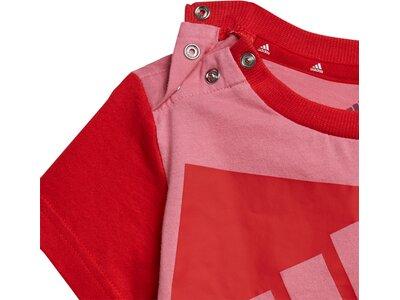 adidas Kinder Essentials Set aus T-Shirt und Shorts Rot
