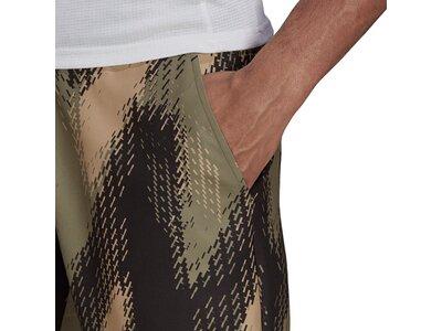 adidas Herren Primeblue 7-Inch Printed Shorts Braun