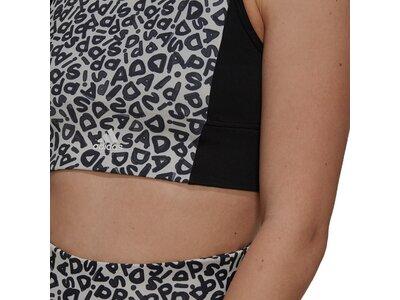 adidas Damen FARM Rio AEROREADY 3-Stripes Print Sports Crop-Top Silber