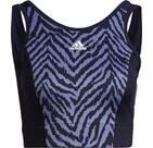 Vorschau: adidas Damen AEROREADY Designed to Move Zebra-Print Crop-Top