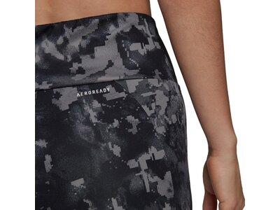 adidas Damen AEROREADY Designed to Move Print High-Rise 7/8-Tight Grau