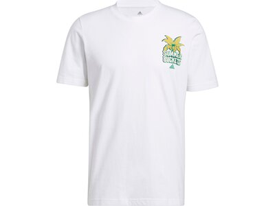 adidas Herren Splash On Graphic T-Shirt Weiß