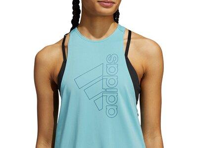 adidas Damen Badge of Sport Tanktop Blau