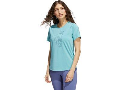 adidas Damen Badge of Sport T-Shirt Blau