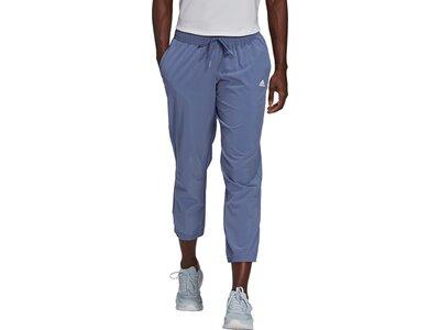 adidas Damen AEROREADY Designed to Move Print Stretchy 7/8-Hose Grau