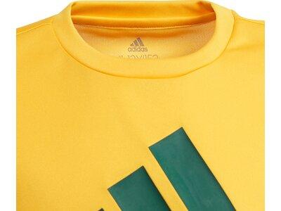 adidas KinderDesigned To Move Big Logo T-Shirt Gelb