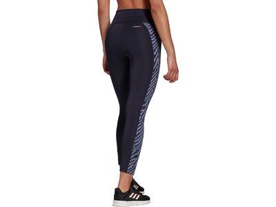 adidas Damen Designed to Move High-Rise Sport Zebra 7/8-Tight Blau