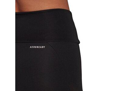 adidas Damen Designed To Move Big Logo Sport Tight Schwarz