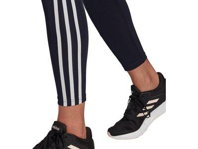 adidas Damen Designed To Move High-Rise 3-Streifen Sport 7/8-Tight Schwarz