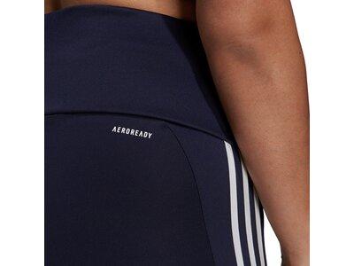 adidas Damen Designed To Move High-Rise 3-Streifen Sport 7/8-Tight – Große Größen Schwarz