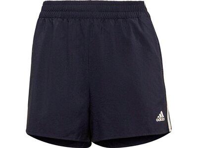 adidas Damen Primeblue Designed 2 Move Woven 3-Streifen Sport Shorts Schwarz