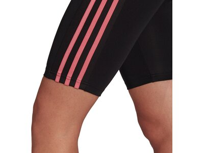 adidas Damen Designed To Move High-Rise Sport kurze Tight Schwarz