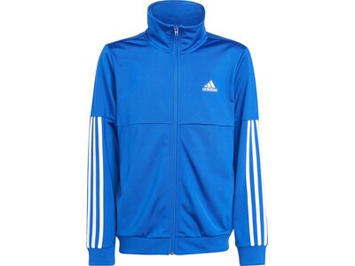 adidas Kinder 3-Streifen Team Trainingsanzug Blau