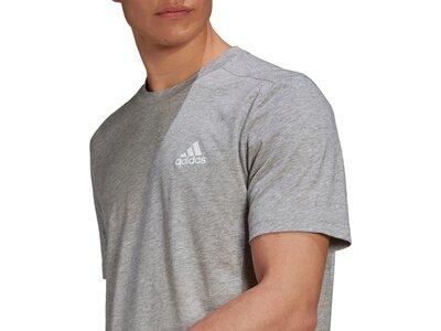 adidas Herren AEROREADY Designed 2 Move Feelready Sport T-Shirt Grau