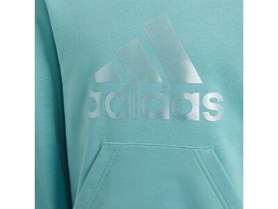 adidas Kinder Future Icons Logo Hoodie Blau
