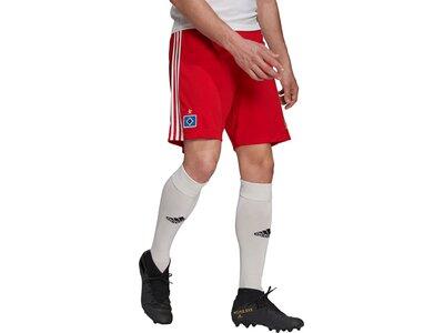 adidas Herren Hamburger SV 21/22 Heimshorts Rot