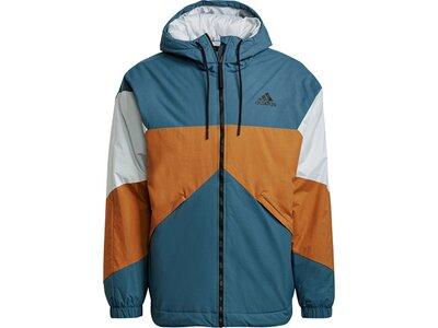 adidas Herren Back to Sport Insulated Hooded Jacke Blau