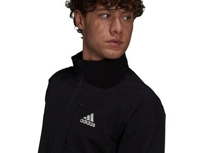 adidas Herren Own The Run Soft Shell Jacke Schwarz
