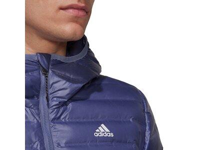 adidas Herren Varilite Hooded Daunenjacke Blau