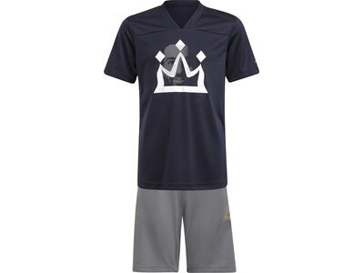 adidas Kinder Salah Football-Inspired Sommer-Set Blau