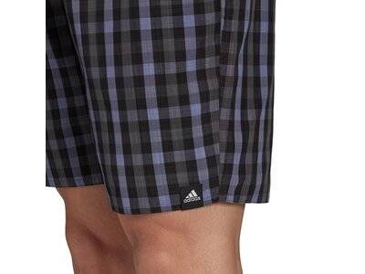 adidas Herren Classic-Length Check Badeshorts Grau