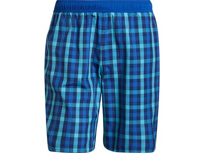 adidas Herren Classic-Length Check Badeshorts Blau
