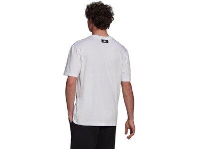 adidas Herren Short Sleeve Graphic T-Shirt Weiß