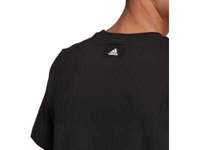 adidas Herren Short Sleeve Graphic T-Shirt Schwarz