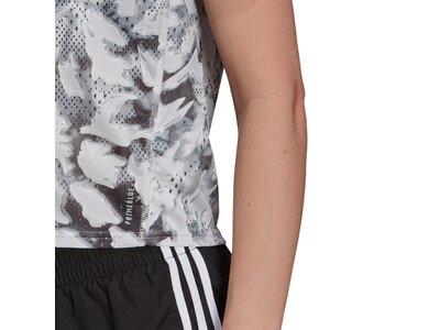 adidas Damen Primeblue Fast Graphic T-Shirt Weiß