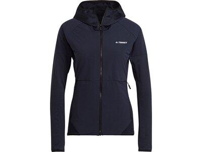 adidas Damen TERREX Skyclimb Fleece Windbreaker Schwarz