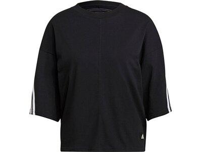 adidas Damen Sportswear Future Icons 3-Streifen T-Shirt Schwarz