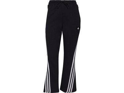 adidas Damen Sportswear Future Icons 3-Streifen Flare Hose Schwarz