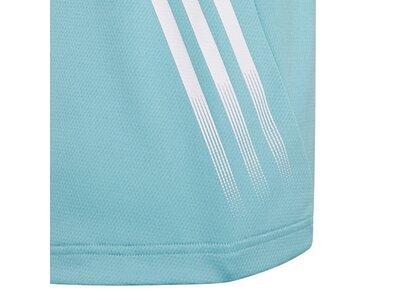 ADIDAS Kinder Shirt T-Shirt Aeroready 3-Stripes Blau