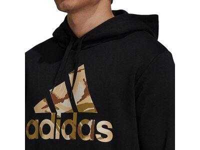adidas Herren Essentials Fleece Camo-Print Hoodie Schwarz